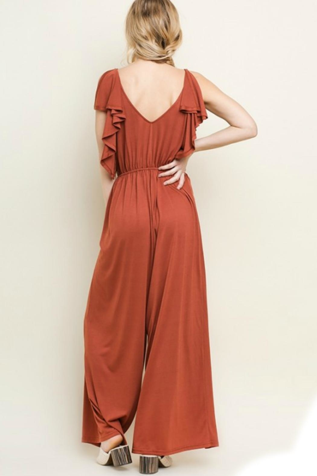 Umgee USA Wide Leg Jumpsuit - Front Full Image
