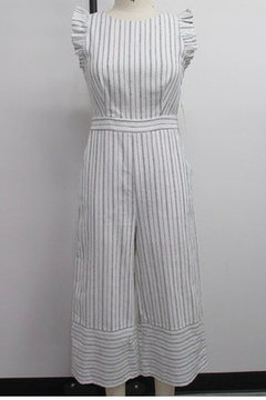 English Factory Striped Ruffle Sleeve Wide Leg Jumpsuit - Product List Image