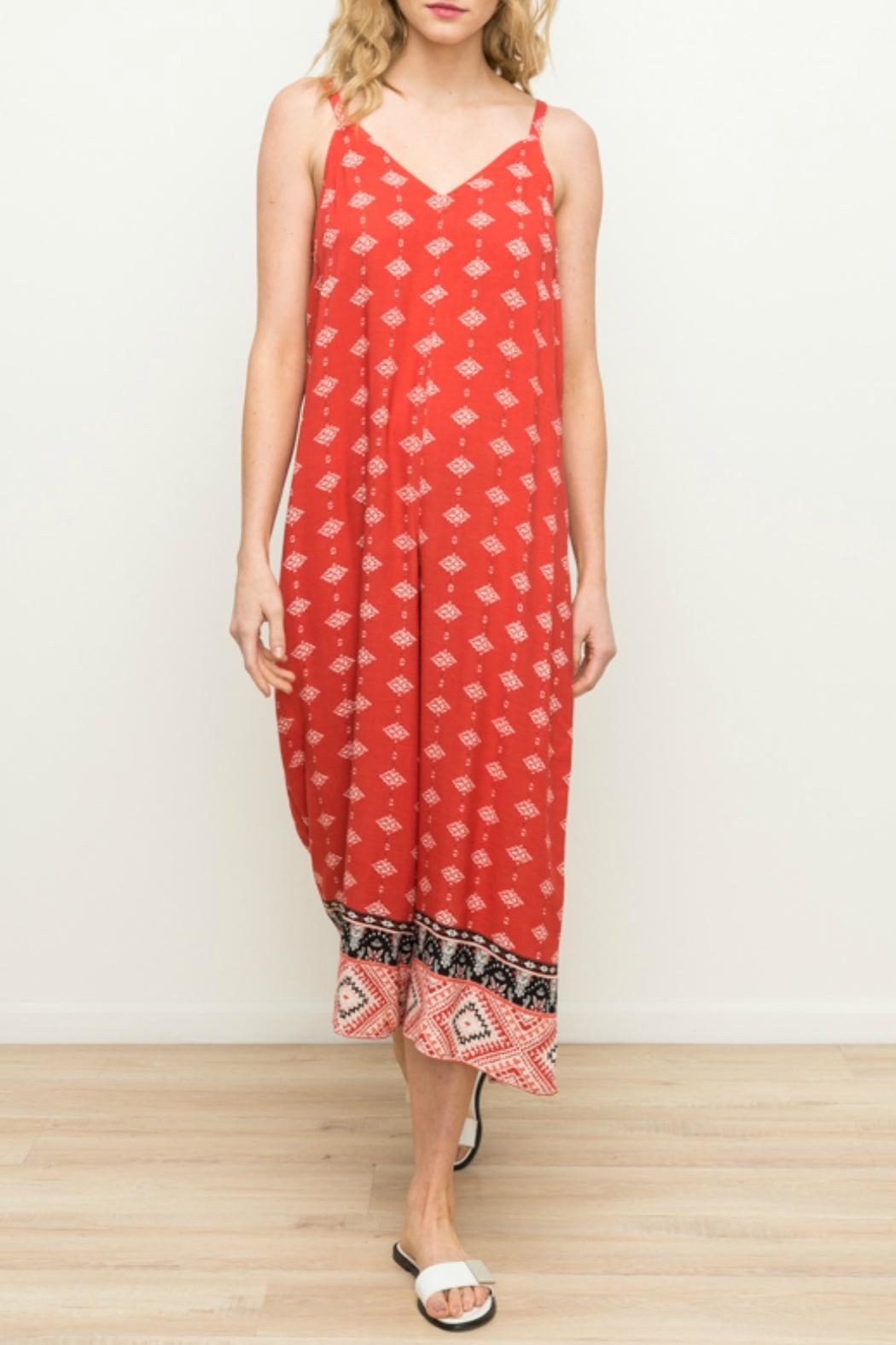 Mystree Wide Leg Jumpsuit - Front Cropped Image