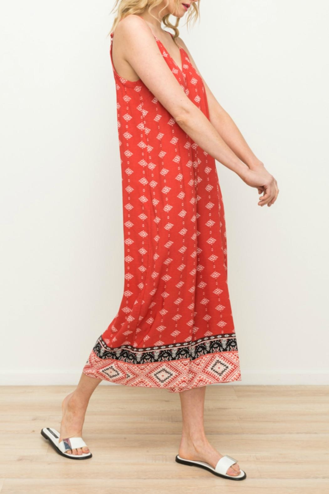 Mystree Wide Leg Jumpsuit - Front Full Image