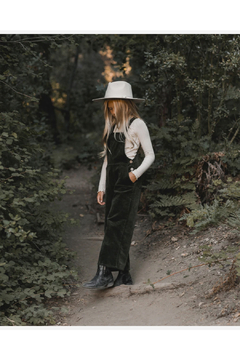 Rylee and Cru Wide Leg Overall - Forest - Product List Image