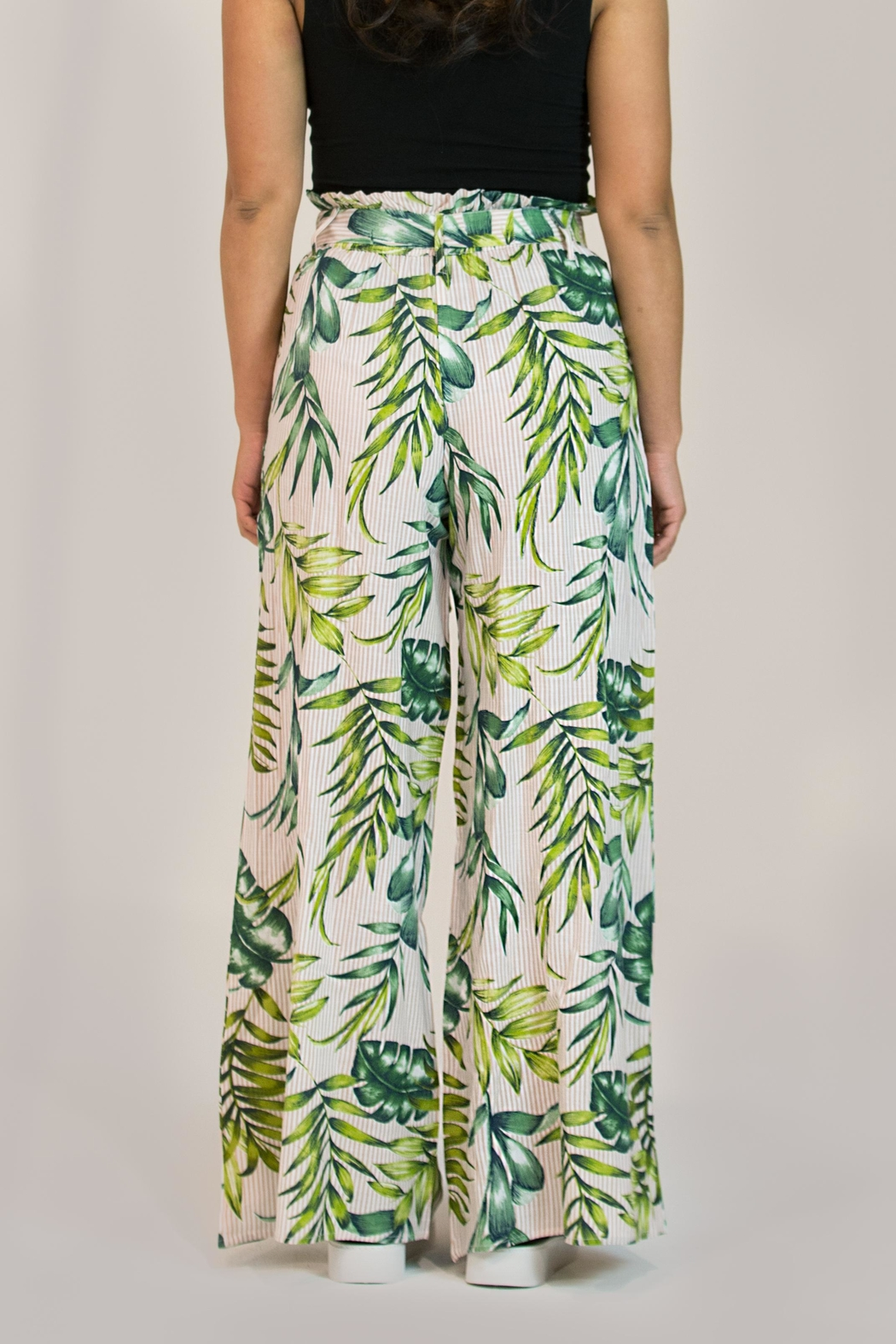 Patrons of Peace Wide Leg Pant - Back Cropped Image
