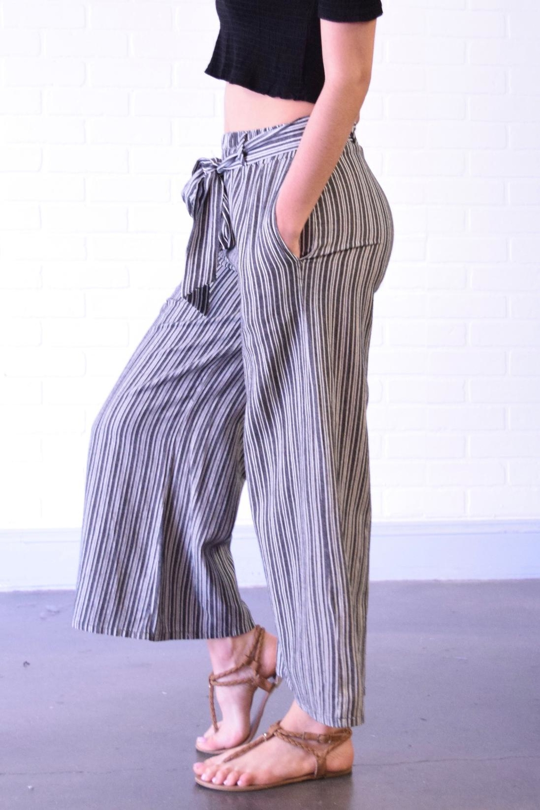 Final Touch Wide Leg Pants - Front Full Image