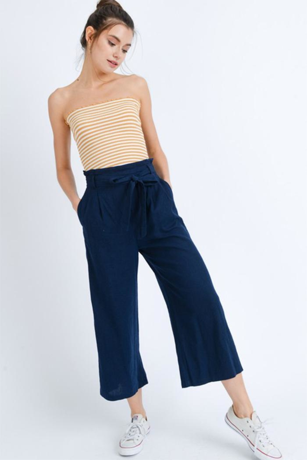 Love Tree Wide Leg Pants - Front Cropped Image