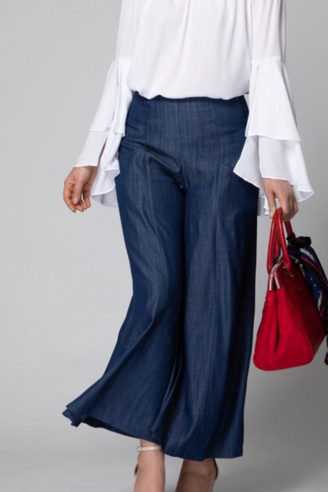 Joseph Ribkoff Wide Leg Pants - Front Cropped Image
