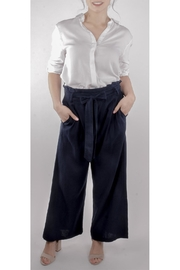 Love Tree Wide-Leg Pants Navy - Product Mini Image
