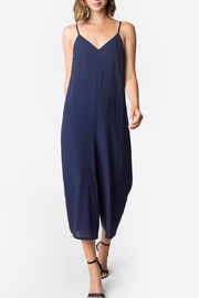 Sugarlips Wide-Leg Plunge-Neck Jumpsuit - Product Mini Image