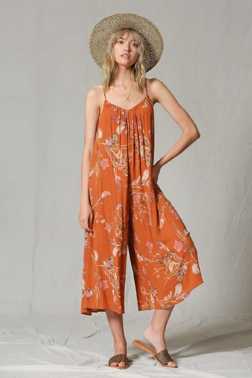 By Together Wide-Leg Printed Jumpsuit - Main Image