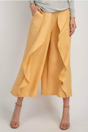 easel Wide-Leg Ruffled Pants - Front cropped