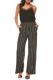 Black Tape/Dex Wide Leg Striped Pull-on Pant w Pockets - Product Mini Image