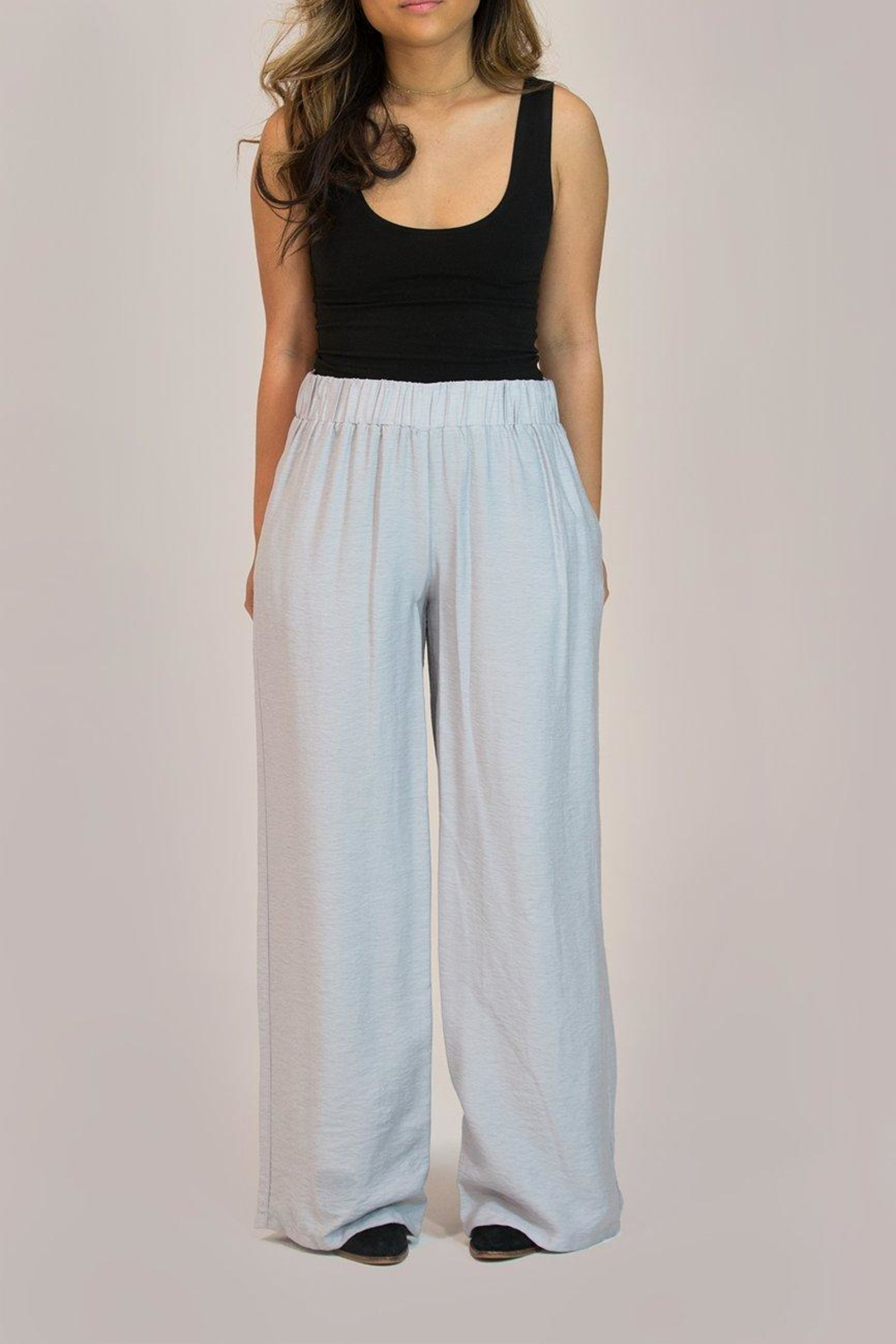 Glam Wide Leg Trouser - Front Full Image