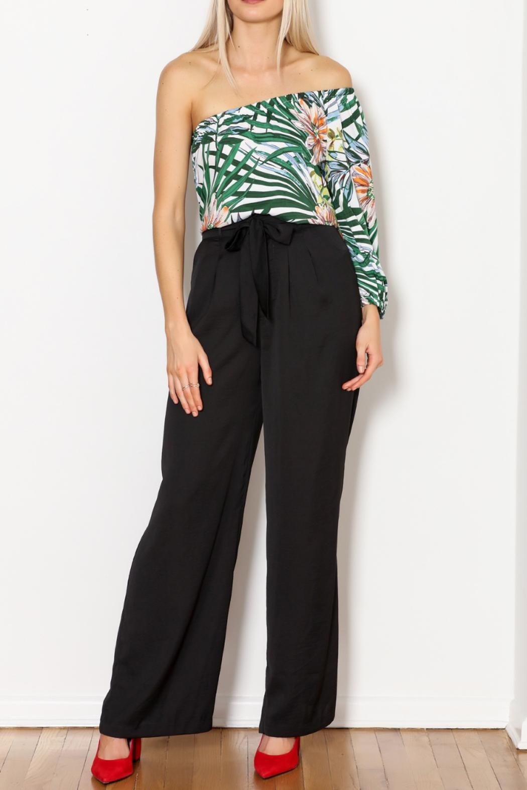 Greylin Wide Leg Trouser - Back Cropped Image