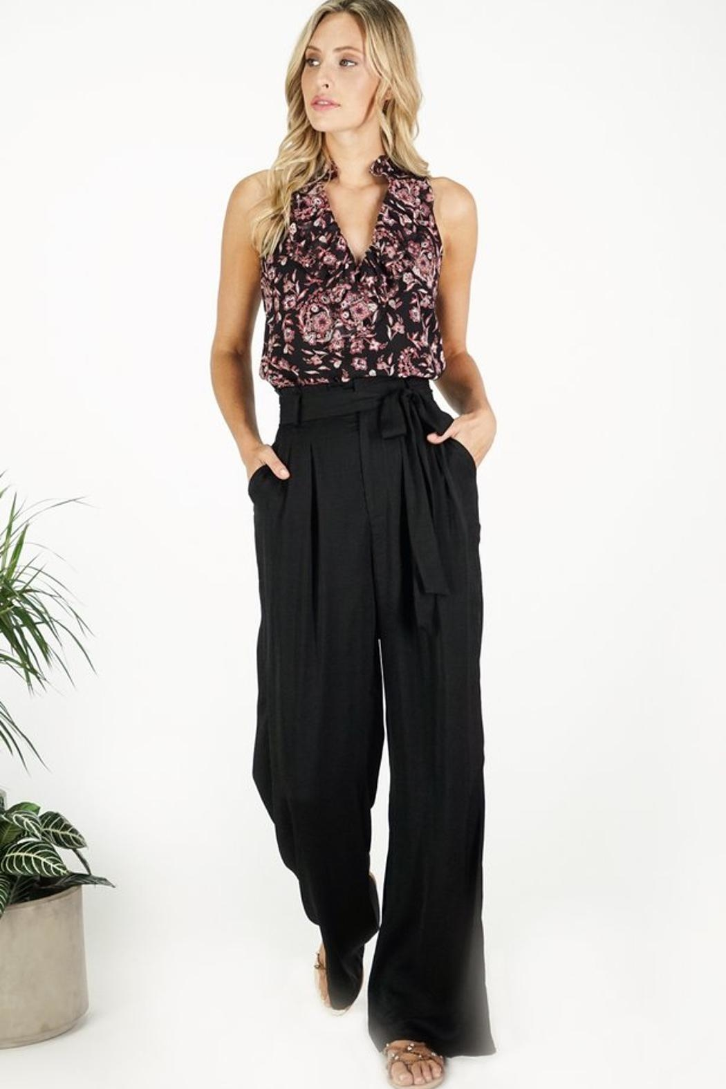 Greylin Wide Leg Trouser - Front Cropped Image