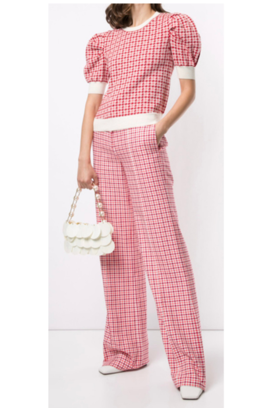 Adam Lippes WIDE LEG TROUSER - Back Cropped Image