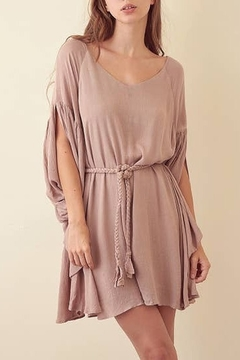 storia Wide Neck Front Self-tie Dress - Product List Image