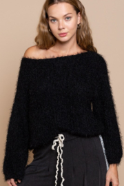 POL  Wide Neck Sweater with Dolman Sleeve - Product Mini Image