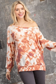 143 Story Wide Neck Tie Dye Knit Top - Product Mini Image