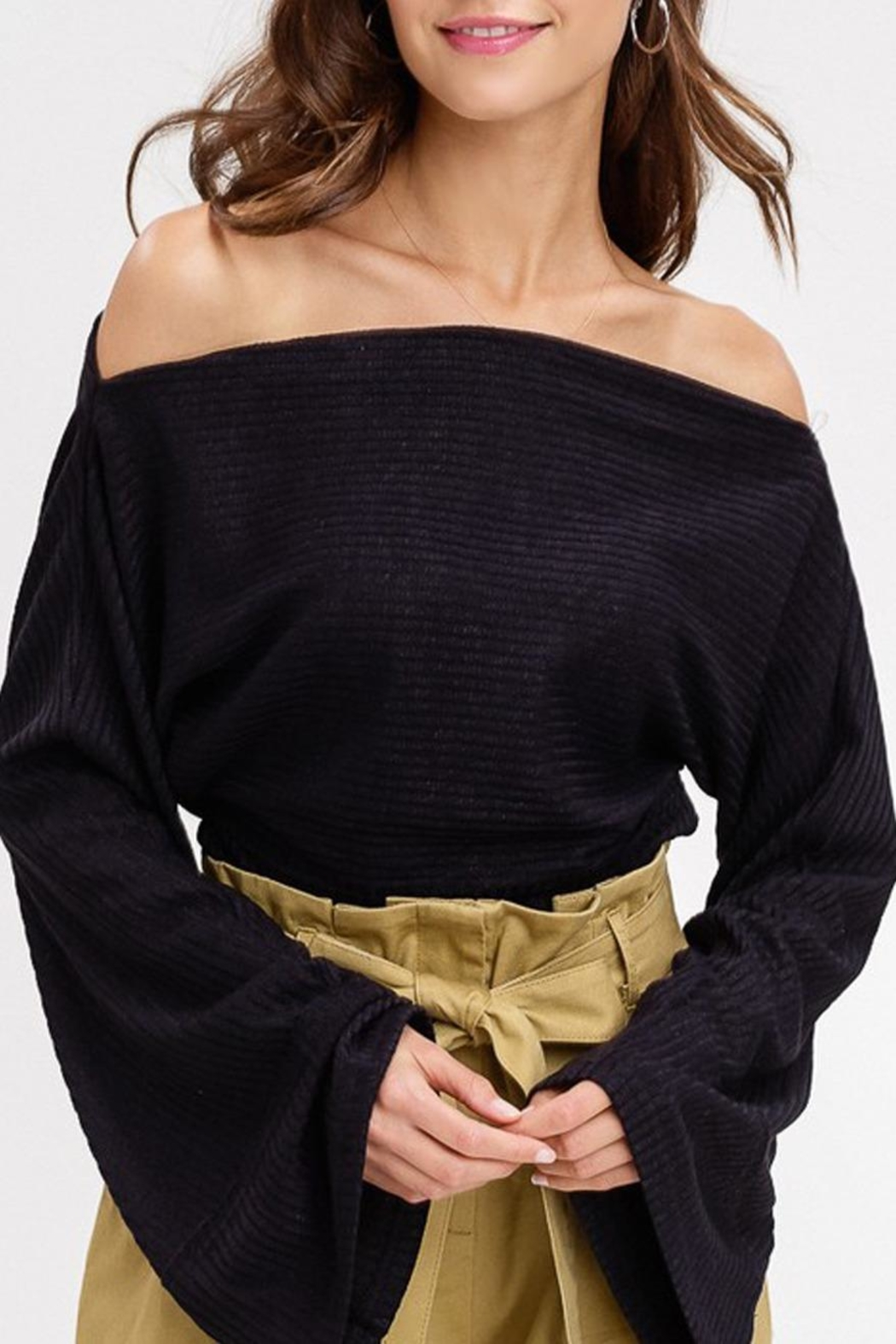 Listicle Wide Neck Top - Main Image
