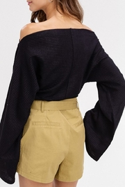 Listicle Wide Neck Top - Side cropped