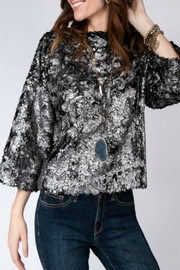 Ivy Jane Wide Neck Top with 3/4 Tapered Sleeve - Product Mini Image