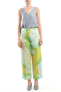 Shoptiques Product: Wide Pants Yellow-Print
