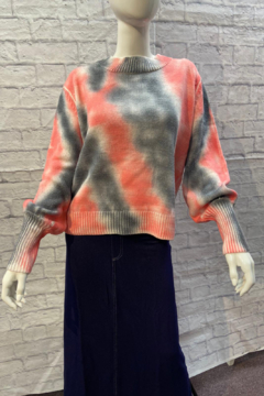 Trend Shop  Wide rib spray paint sweater - Product List Image