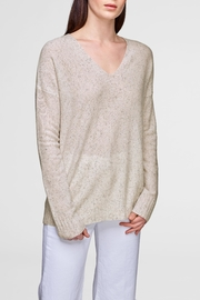 White + Warren Wide Rib  V-Neck - Product Mini Image