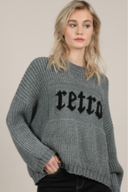 Molly Bracken Wide Ribbed Retro Graphic Sweater - Product Mini Image