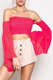 blue blush Wide Sleeve Crop - Product Mini Image