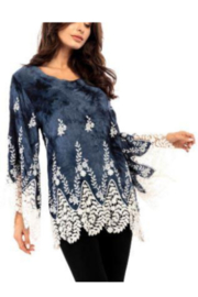 Adore Wide Sleeve Lace Trimmed Tunic - Product Mini Image