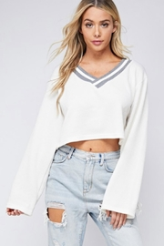 blue blush Wide Sleeve Sweater - Product Mini Image