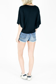 Six Fifty Wide Sleeve Tie Front Top - Front full body