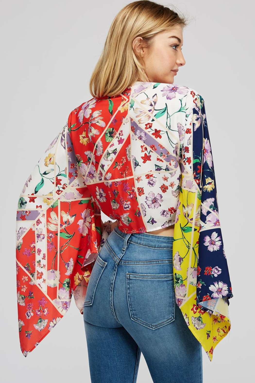 Hot & Delicious Wide Sleeve Top - Back Cropped Image
