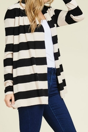 Staccato Wide Stripe Cardigan - Front full body