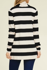 Staccato Wide Stripe Cardigan - Side cropped