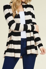 Staccato Wide Stripe Cardigan - Product Mini Image