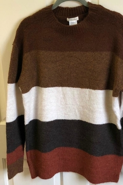 Shoptiques Product: Wide-Stripe Sweater Tunic