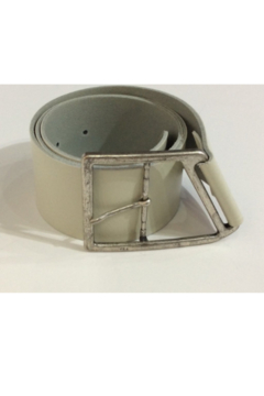 DiJore Wide Taupe/Grey leather belt - Alternate List Image