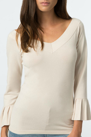 525 America Wide V Neck Ruffle Sleeve Top - Product Mini Image