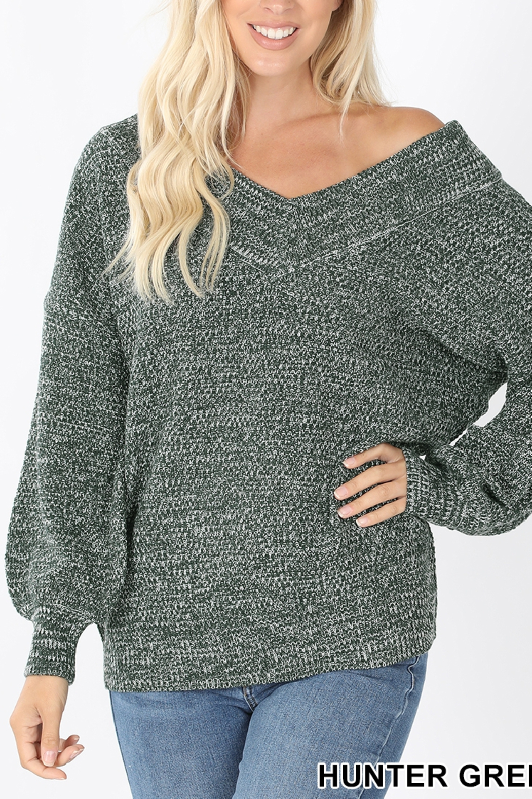 Lyn -Maree's Wide V Sweater - Main Image