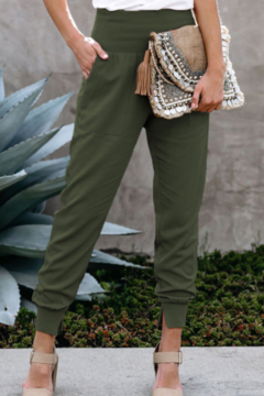 The Emerald Fox Boutique Wide Waistband Pocketed Joggers - Product List Image