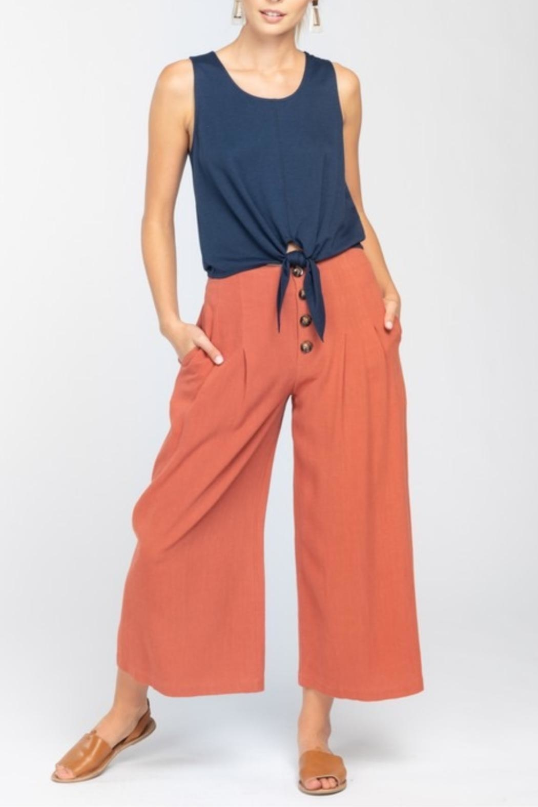 Everly Wideleg Cropped Pant - Front Cropped Image