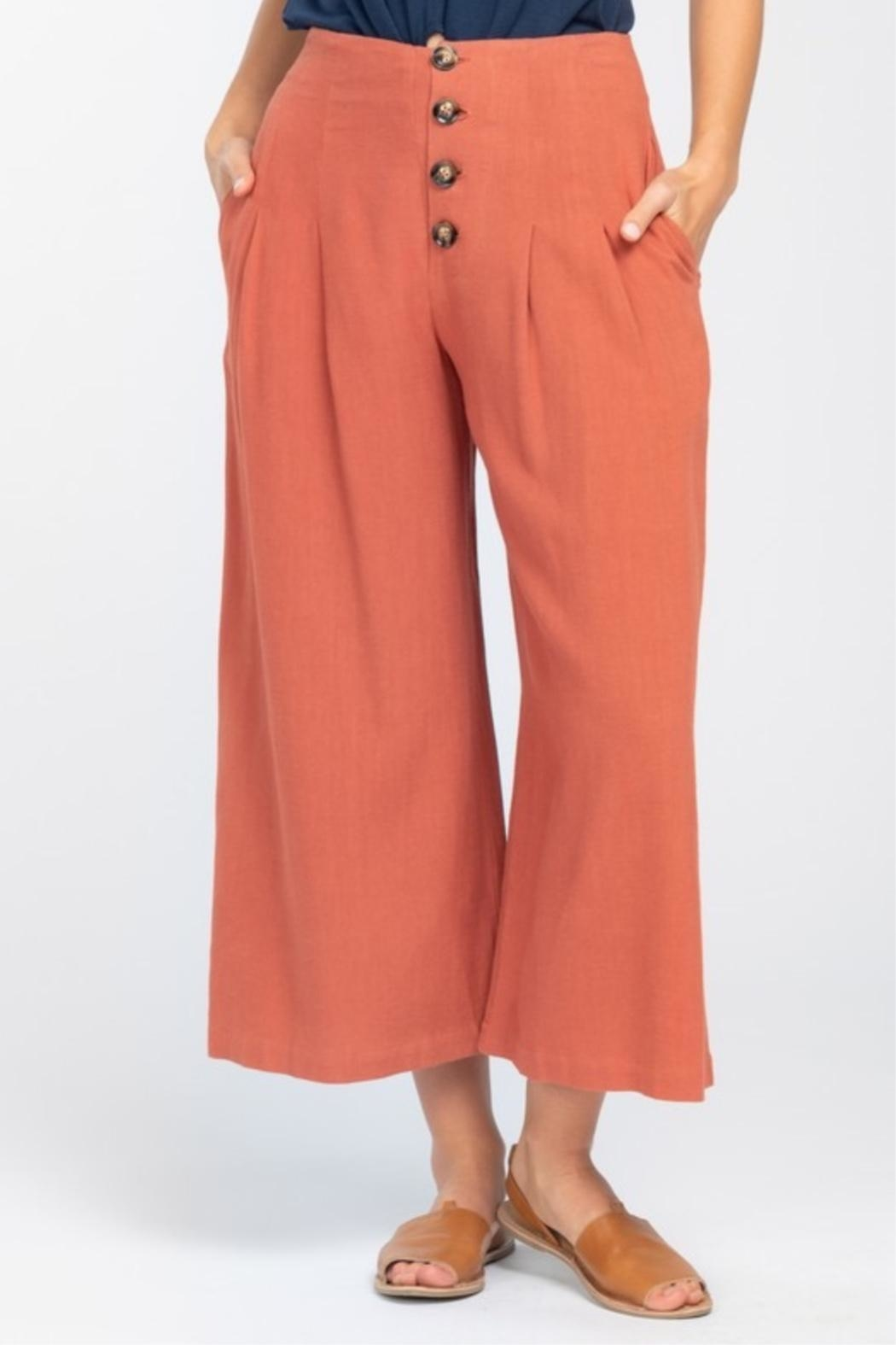 Everly Wideleg Cropped Pant - Front Full Image