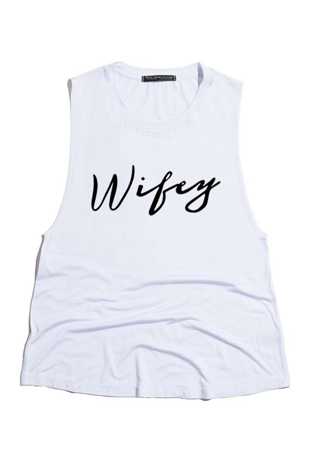 Wild Lilies Jewelry  Wifey Tank Top - Front Cropped Image