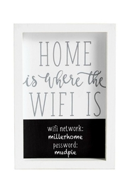 Mud Pie Wifi Password Plaque - Product Mini Image