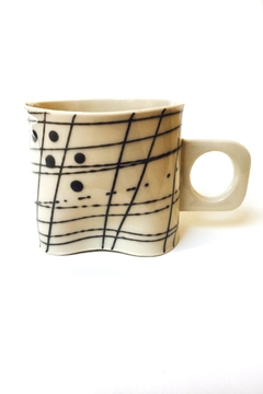Shoptiques Product: Porcelain Soft Grid Mug
