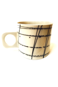 Shoptiques Product: Porcelain Soft Stripe Mug