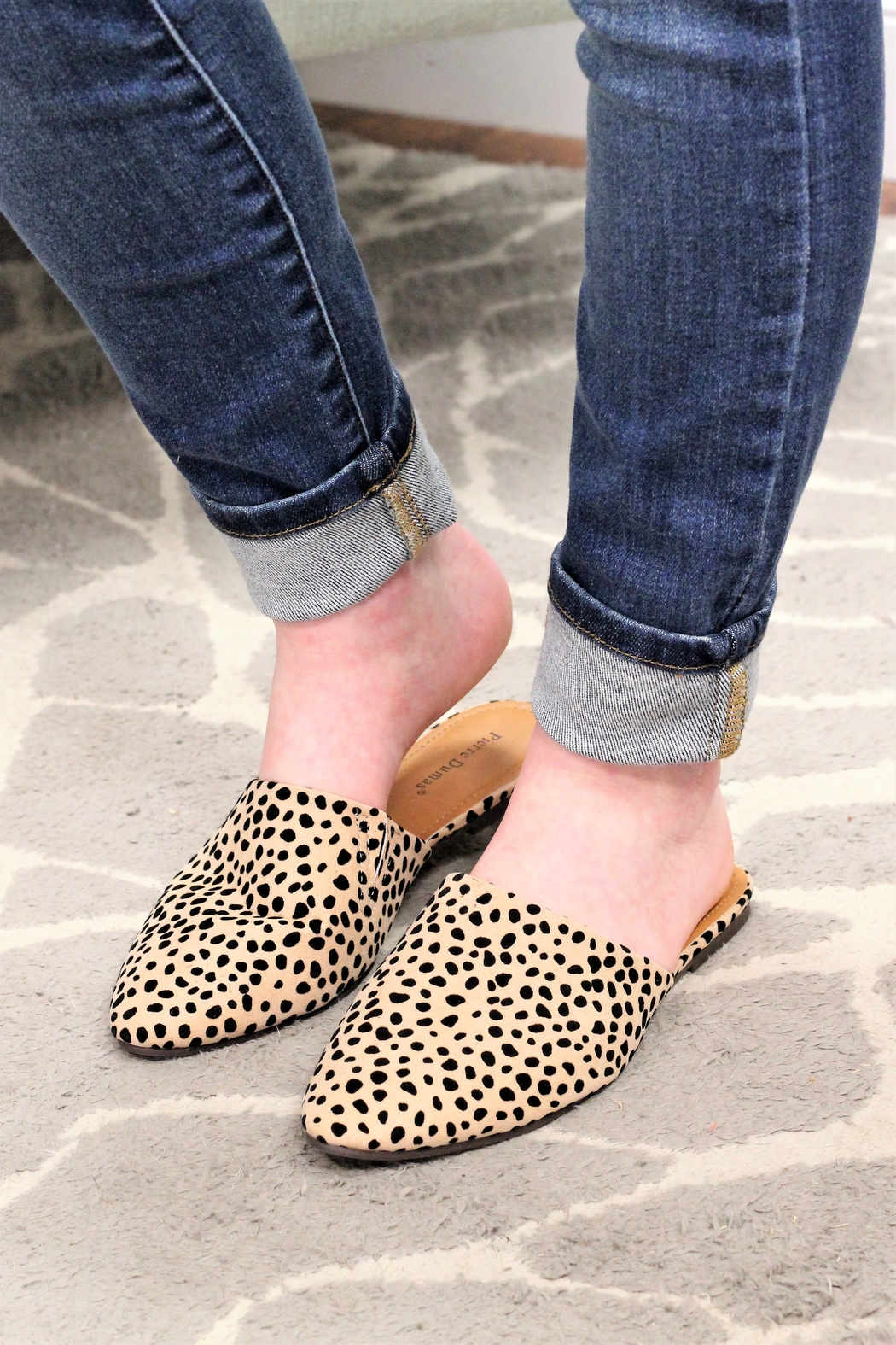 Olem Wild And Free Cheetah Mules - Front Full Image