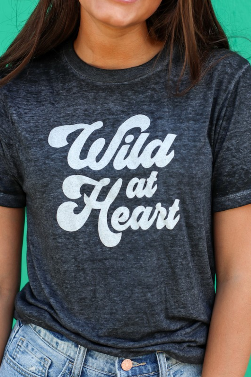 Nellie Mae Wild at Heart tee - Front Cropped Image