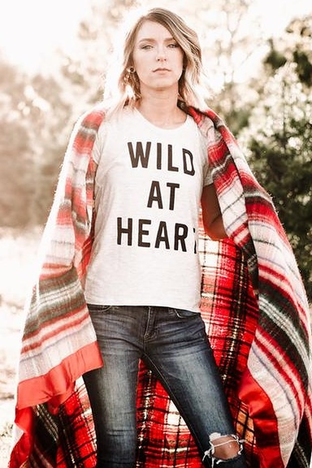 August Ink Wild At Heart Tee Shirt - Main Image